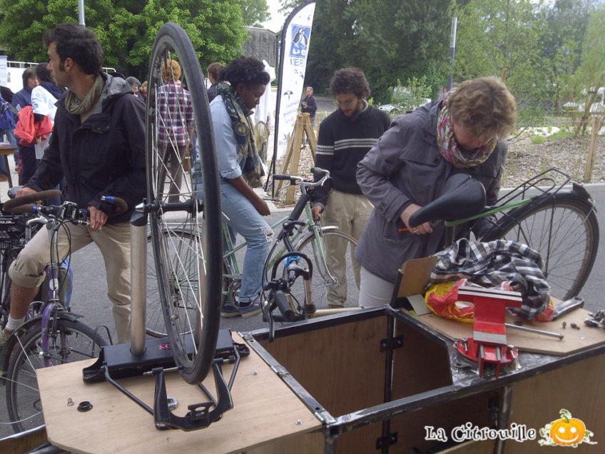 Atelier Vélo Mobile La Citrouille à la Fête d'Inauguration du Parc Flaubert