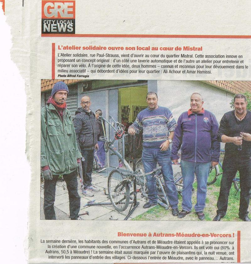 Atelier vélo mardi 15h quartier Mistral